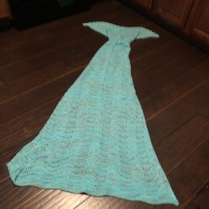 Other - Turquoise Mermaid Tail Blanket